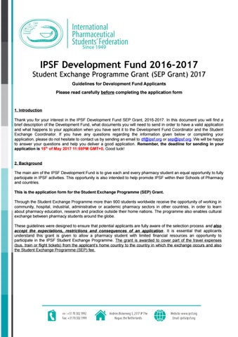 Ipsf Sep Grant Application   Final By Ipsf Afro  Issuu
