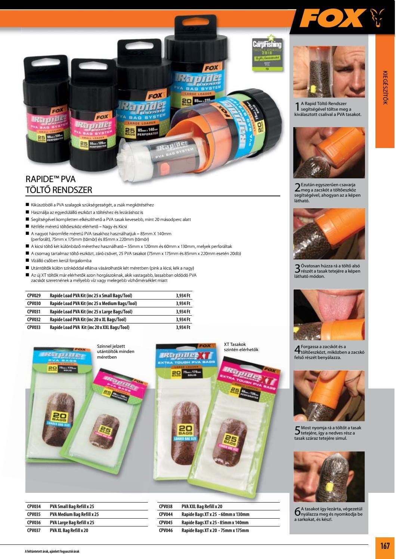 PVA Bags XT 85mm x 140mm Fox Rapide™ Load