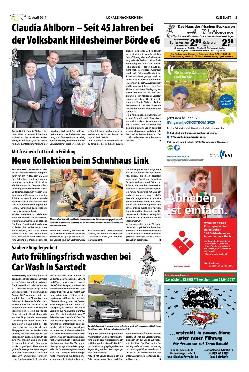 5af3d0c0ae0c10 KLEEBLATT 12. April 2017 by KLEEBLATT Verlag - issuu