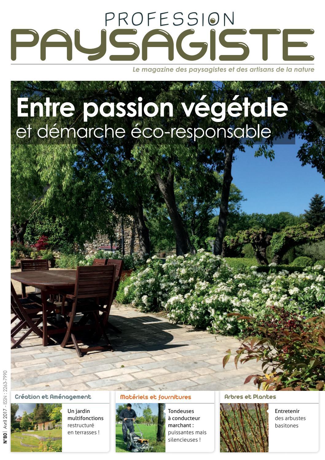 Paysagiste Nantes Avis profession paysagiste #80 avril 2017les editions de