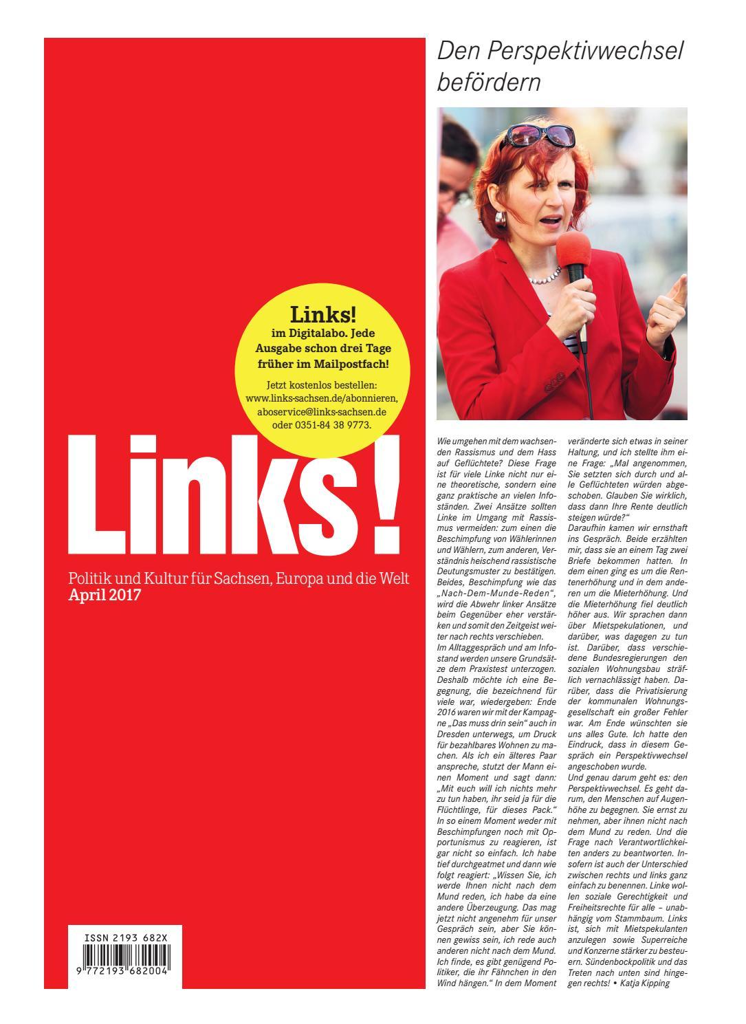 LINKS! Ausgabe 4/2017 by LINKS! Politik und Kultur für Sachsen, Europa und  die Welt - issuu