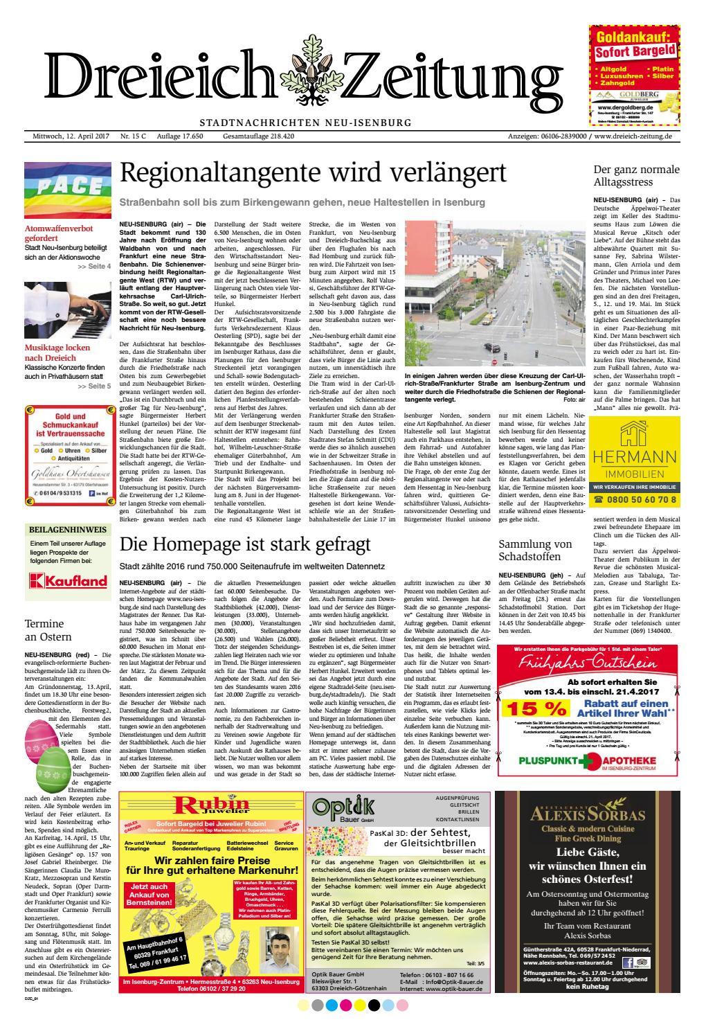 Dz Online 015 17 C By Dreieich Zeitung Offenbach Journal Issuu