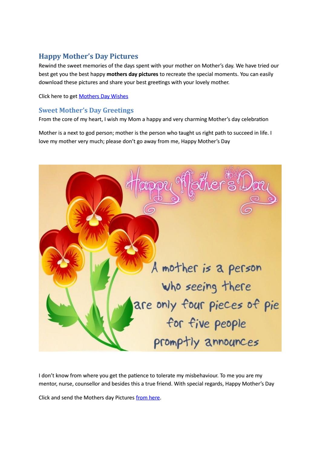 Happy Mothers Day Images And Pictures By Angela Rexario Issuu
