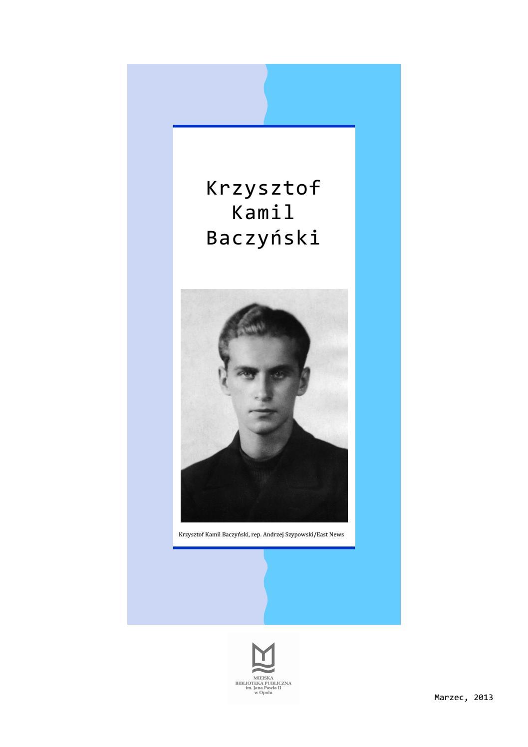 Krzysztof Kamil Baczyński By Miejska Biblioteka Publiczna W