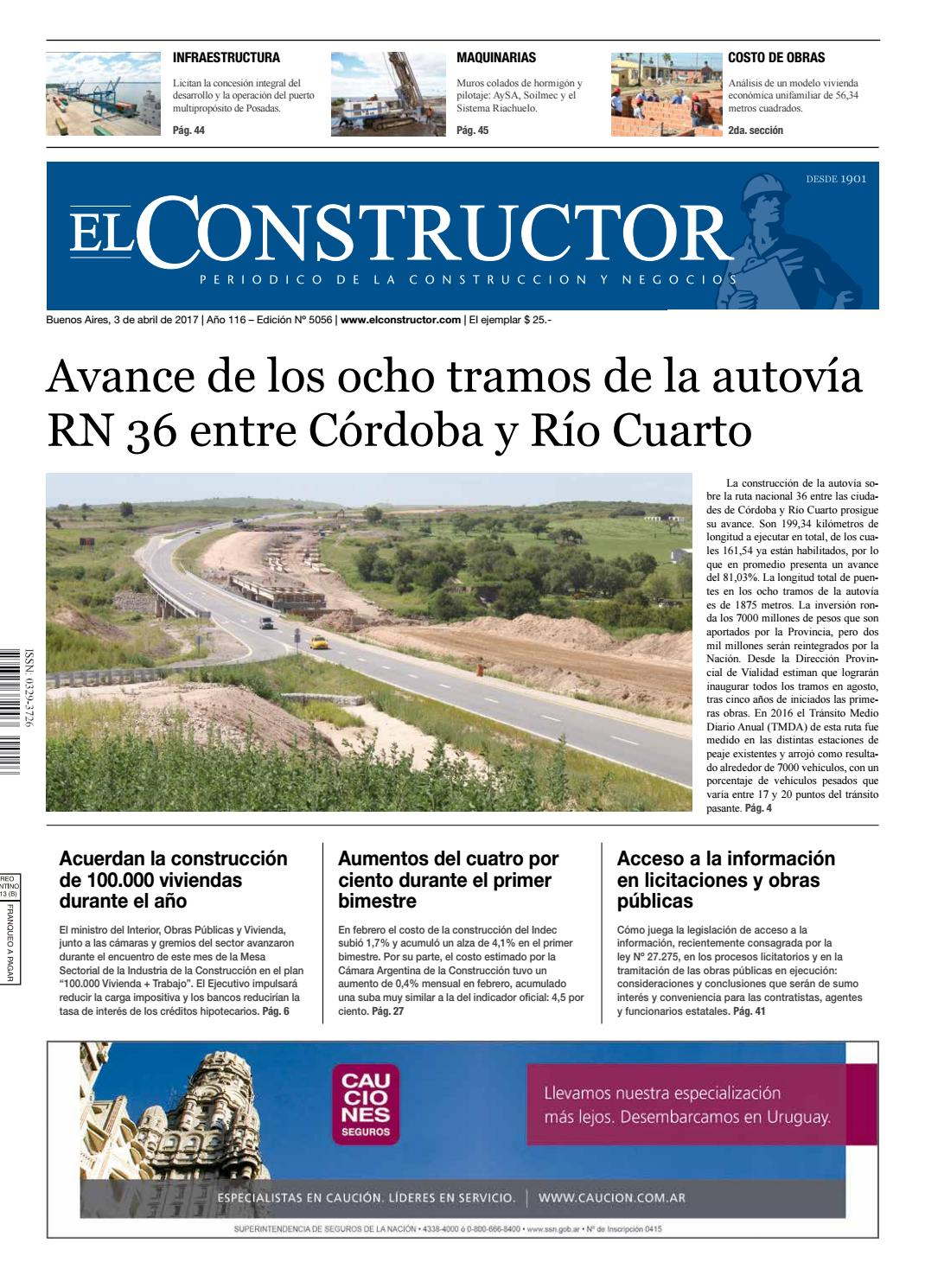 El Constructor 03/4/2017 - N° 5056 Año 116 by ELCO Editores - issuu