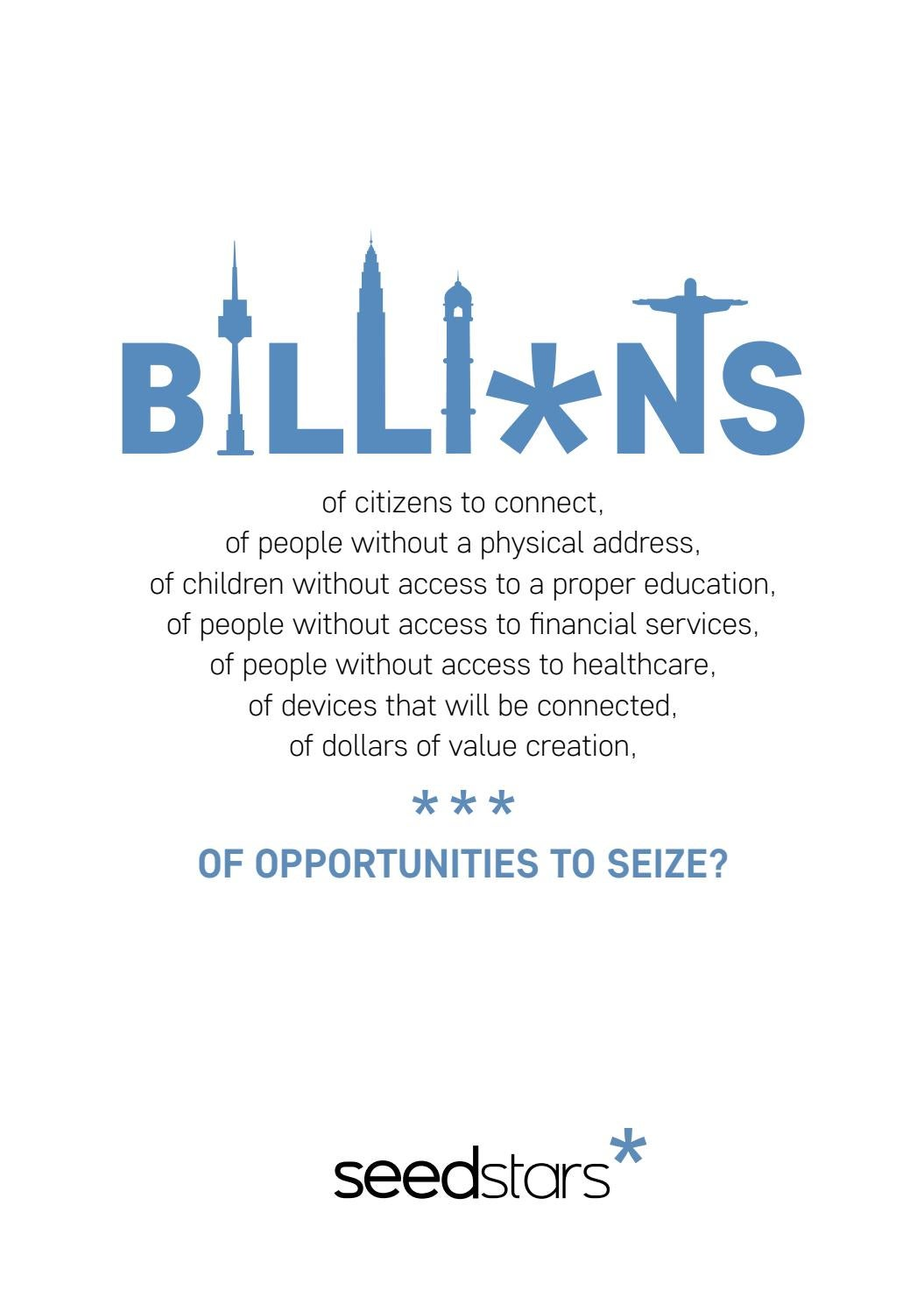 Billions of opportunities by Seedstars World - issuu
