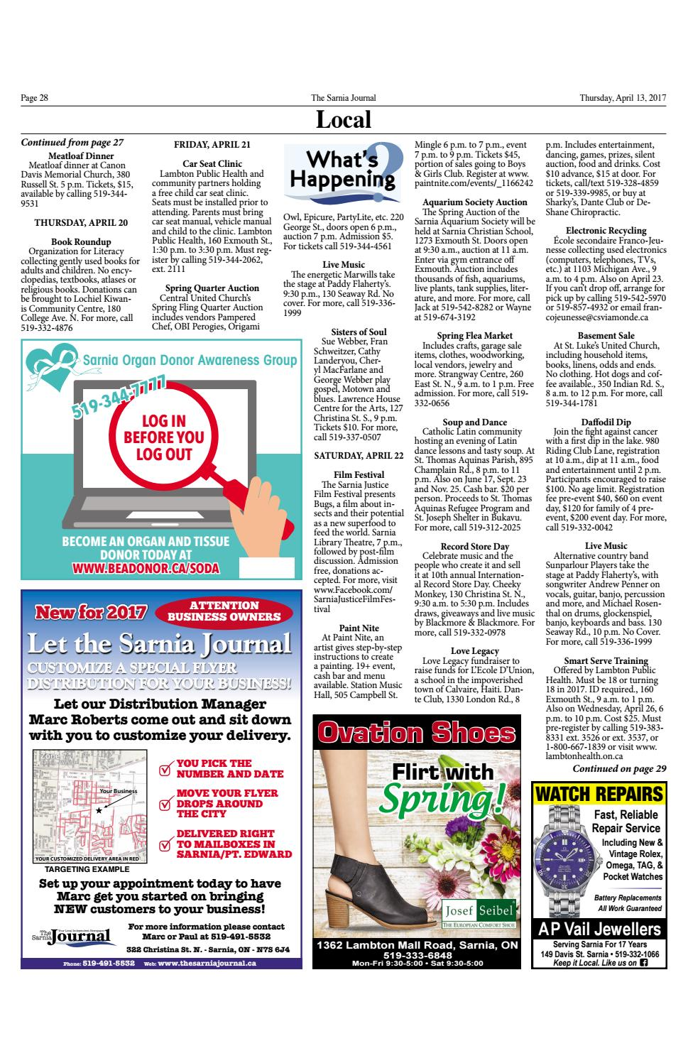 Sarnia Journal April 13 2017 By The Sarnia Journal Issuu