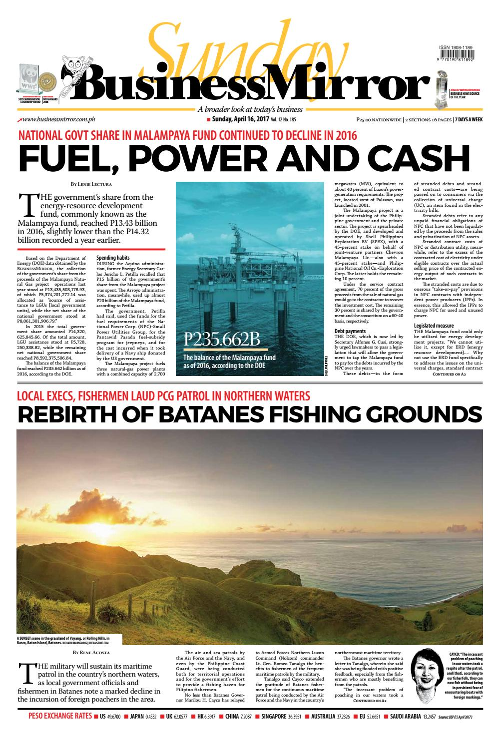Businessmirror april 16, 2017 by BusinessMirror - issuu