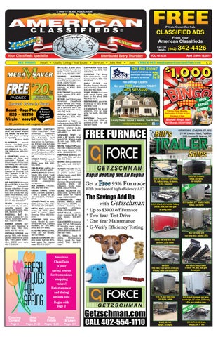 67214a63b86bee A THRIFTY NICKEL PUBLICATION. Classified Ads Private Owner For Sale