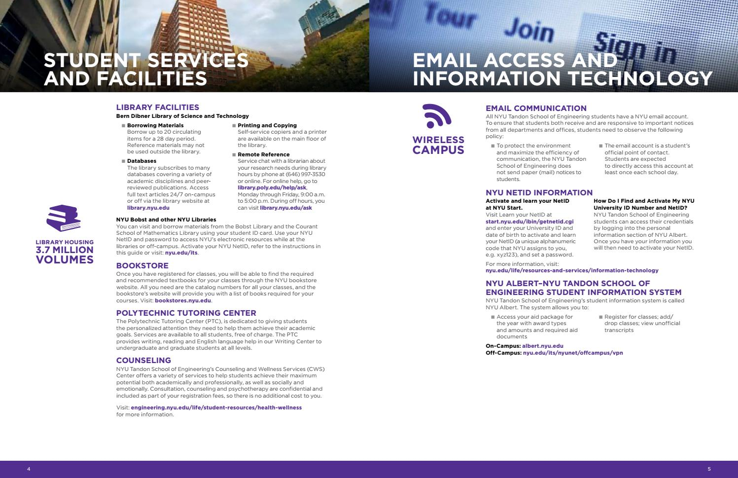 NYU Tandon School of Engineering Welcome Guide 2017 by