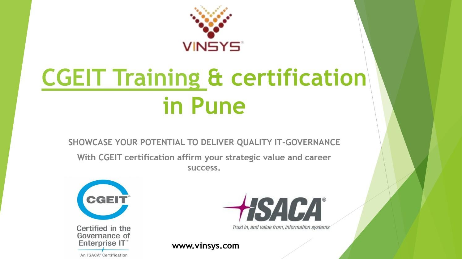Cgeit Training Certification In Pune By Vinsysit Issuu