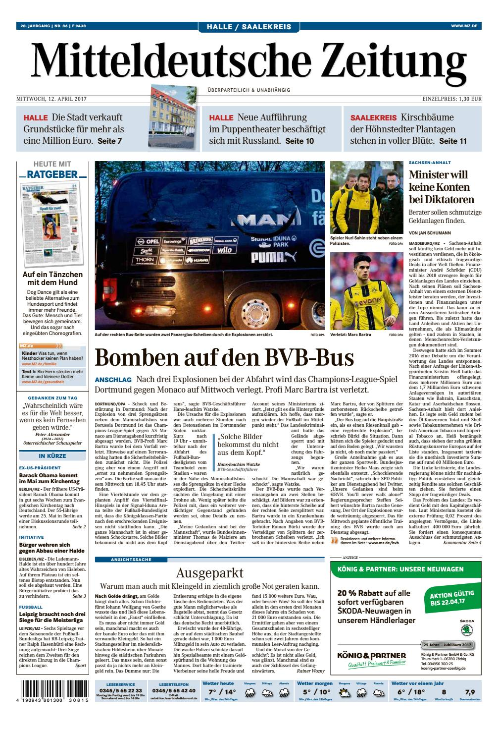 MZ Halle Saalekreis 12.04.2017 by Mediengruppe Mitteldeutsche Zeitung GmbH  & Co. KG - issuu