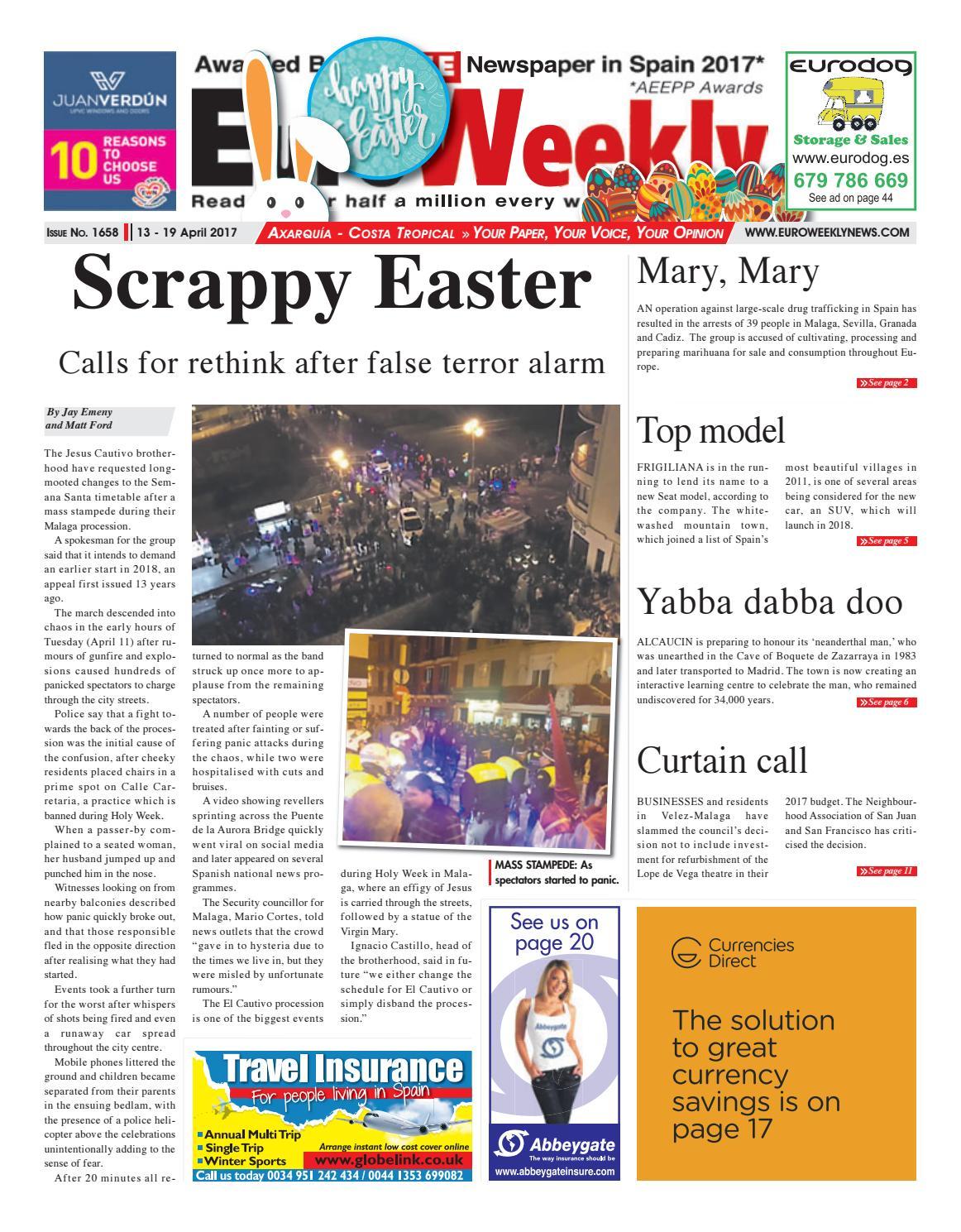 Actor Porno En Tenerife 2017 euro weekly news - axarquia 13 - 19 april 2017 issue 1658