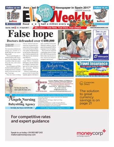 Euro weekly news mallorca 13 19 april 2017 issue 1658 by euro page 1 fandeluxe Choice Image