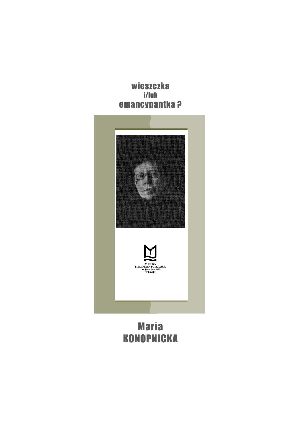 Maria Konopnicka Wieszczka Ilub Emancypantka By Miejska