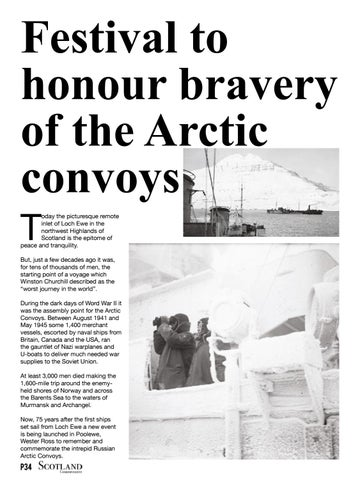 Page 34 of Festival to honour bravery of the Arctic convoys