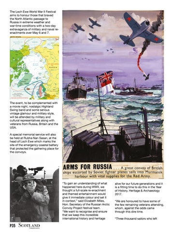 Page 35 of Festival to honour bravery of the Arctic convoys