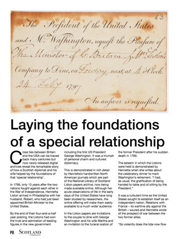 Page 8 of Laying the foundations of a special relationship