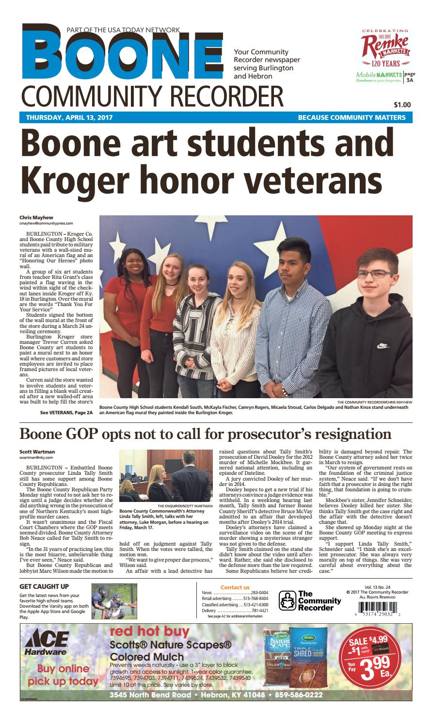 Boone Community Recorder 041317 By Enquirer Media Issuu