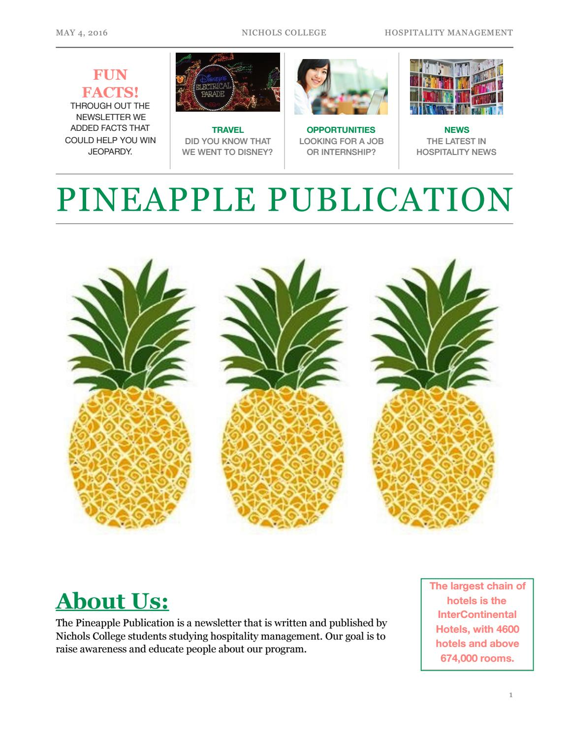 Pineapple Publication Newsletter TEMPLATE by Emma Murphy - issuu