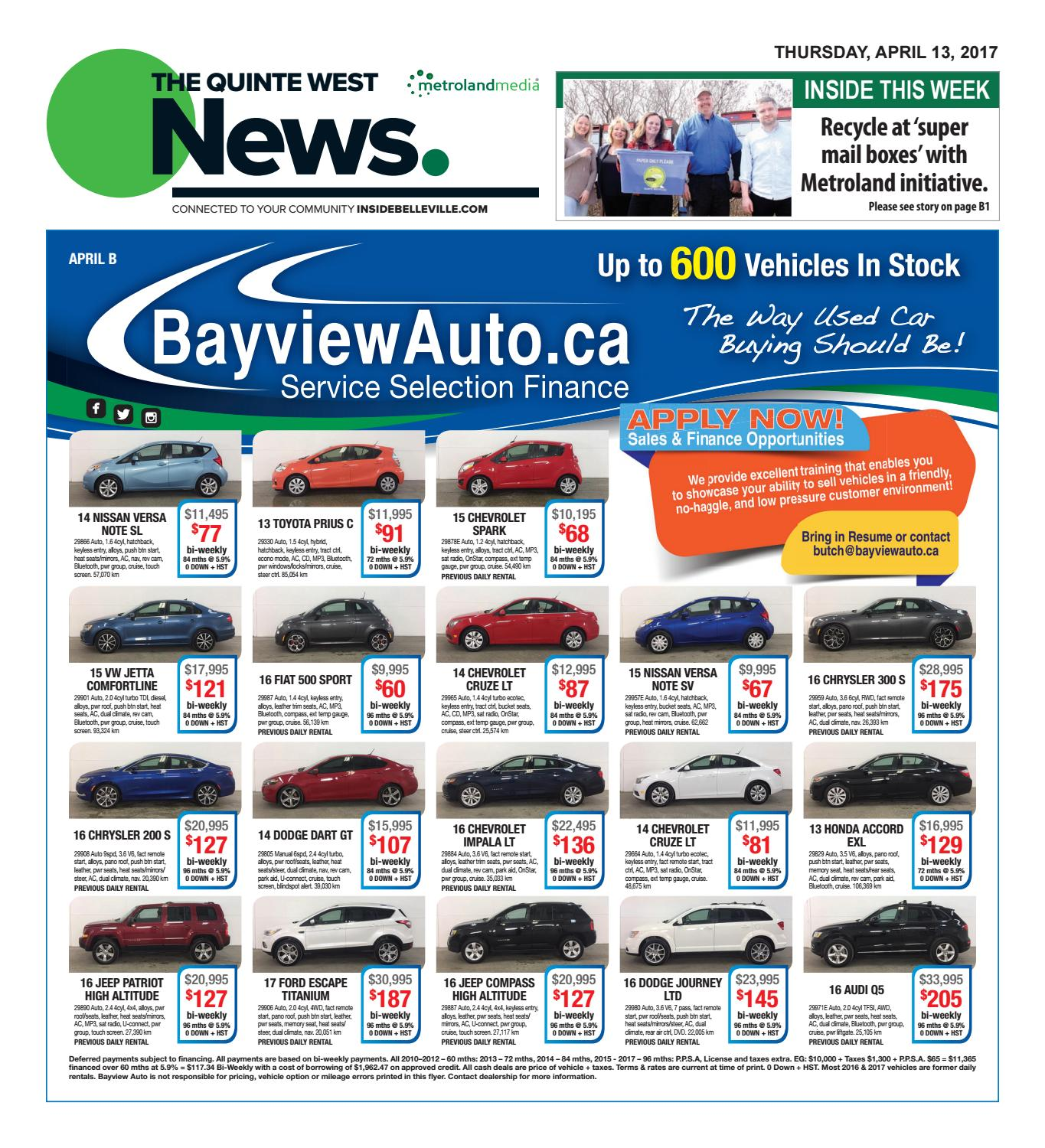 Quinte041317 by Metroland East - Quinte West News - issuu