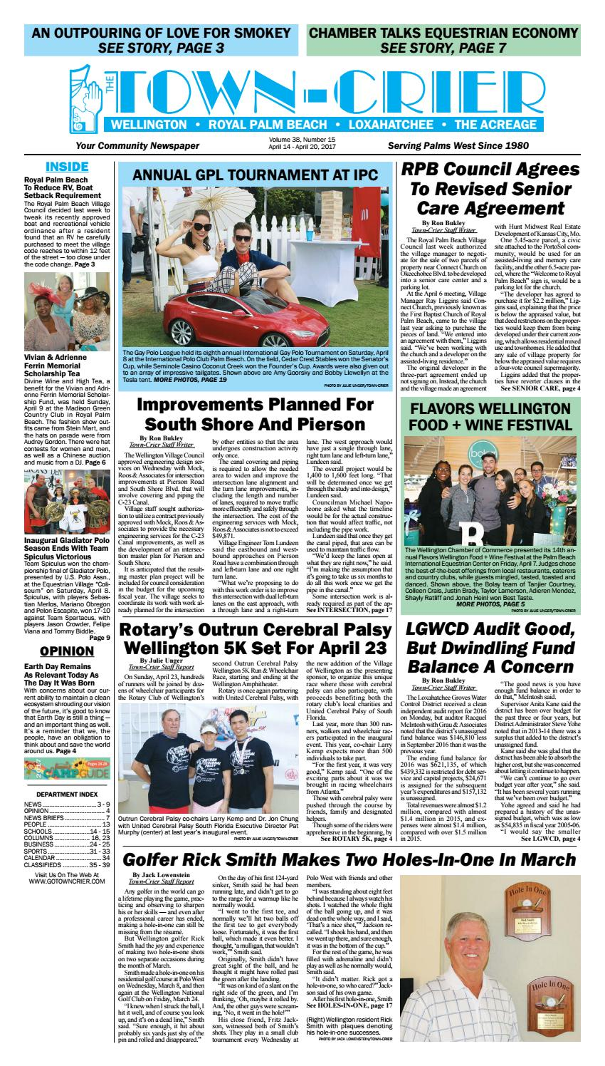 Town Crier Newspaper April 14 2017 By Wellington The