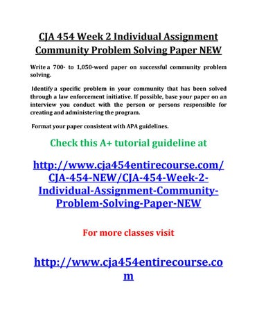 identify a specific problem in your community that has been solved through a law enforcement initiat Has there been a situation where your good judgement was crucial to your problem-solving • result: be specific about the results you were able to achieve thanks to your problem-solving also, we guide you step-by-step through each section, so you get the help you deserve from start to finish.