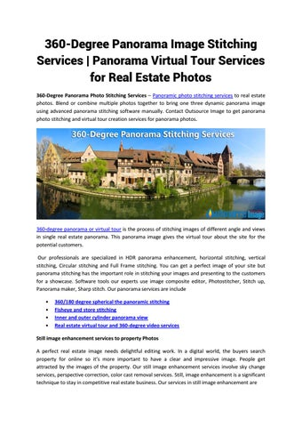 360 degree panorama image stitching services panorama virtual tour services  for real estate photos