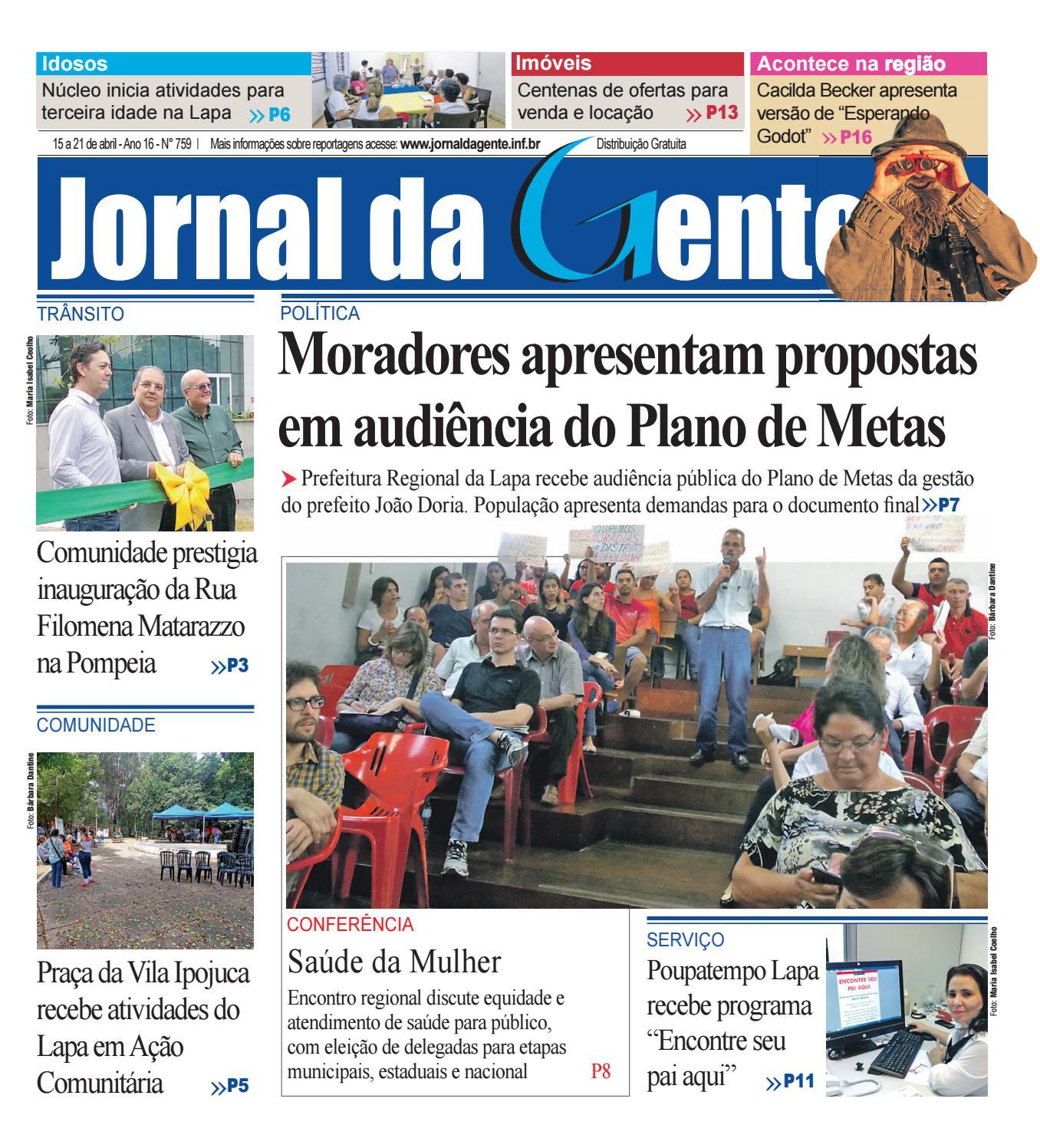 Jornal Da Gente Edi O 759 15 A 21 De Abril De 2017 By P Gina  ~ Balança De Cozinha Digital Aarmario De Cozinha Janaina
