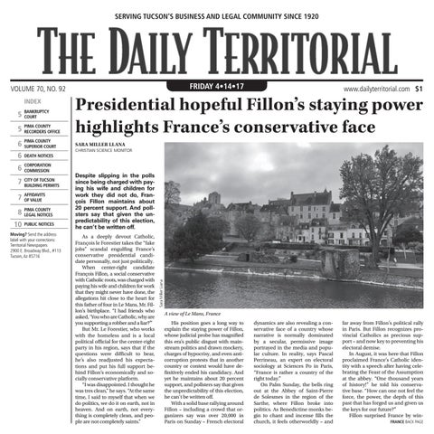 04/17/2017 The Daily Territorial by Wick Communications - issuu