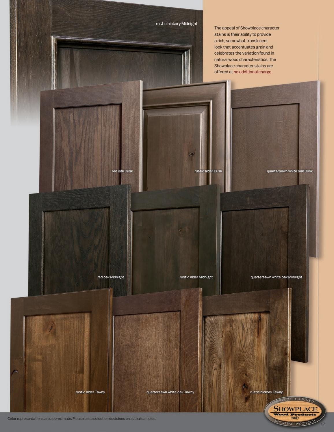 Showplace Cabinetry Styles Woods Amp Finishes Booklet By