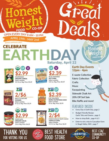 Honest Weight Food Co-op Great Deals Sales Flyer - organic, all natural, local foods & products