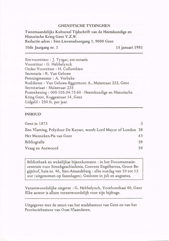 Ghendtsche tydinghen 1981 ehc 787672 1981 by Davy Goedertier - issuu