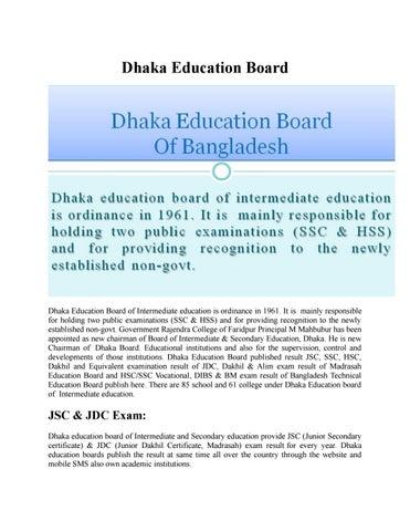 Dhaka education board by MD Amin - issuu