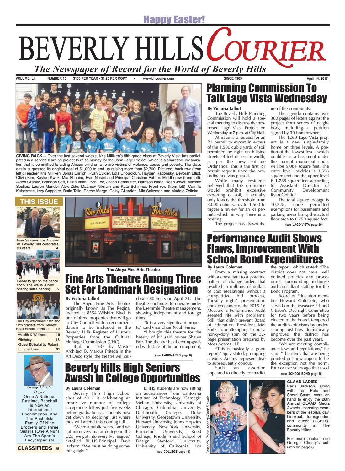 BHCourier E-edition 041417 by The Beverly Hills Courier - issuu