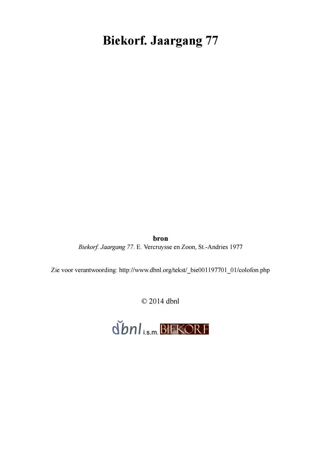 Biekorf jaargang 77 bie001197701 01 by Davy Goedertier - issuu