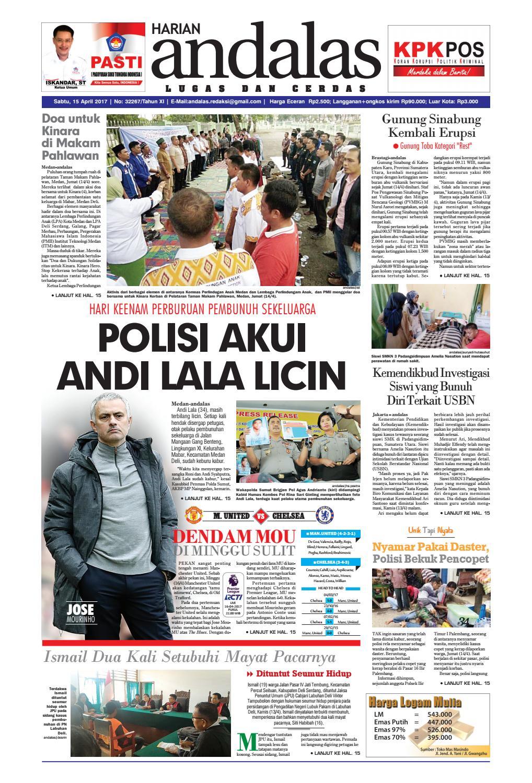 Epaper Andalas Edisi Sabtu 15 April 2017 By Media Andalas