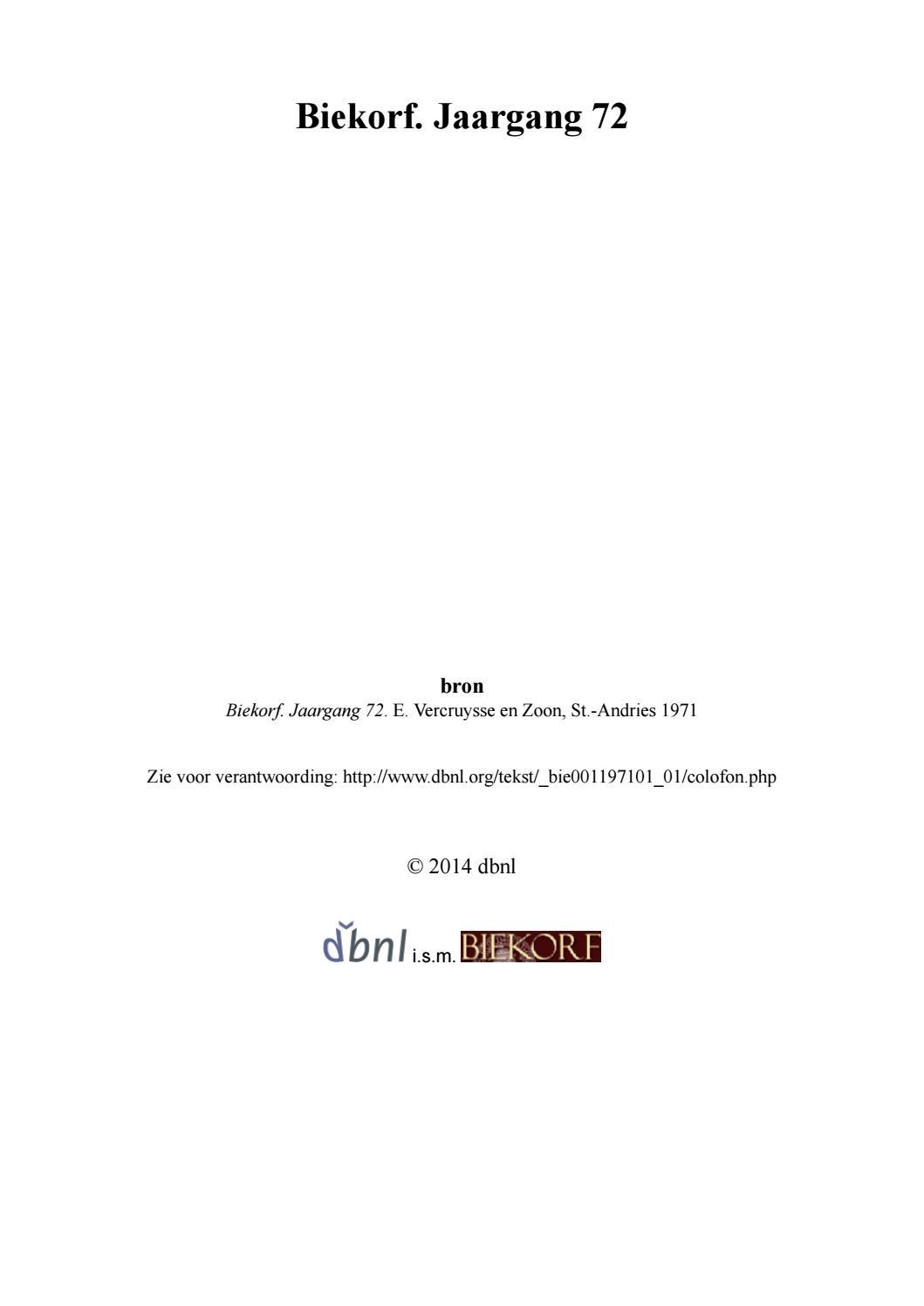 cac192d48ab Biekorf jaargang 72 bie001197101 01 (deel 1 van 2) by Davy Goedertier -  issuu