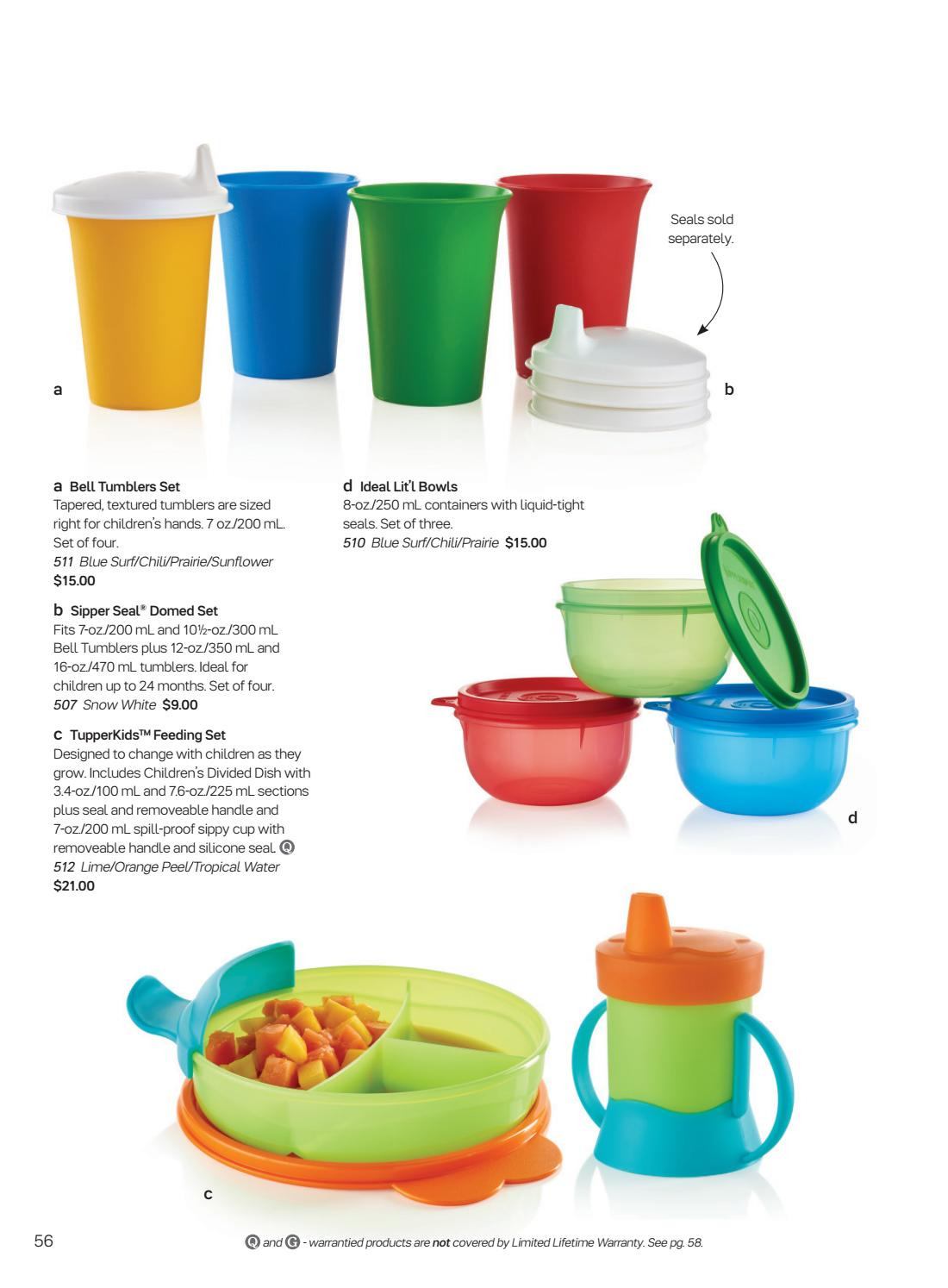 TUPPERWARE SIPPER SEAL DOMED SET
