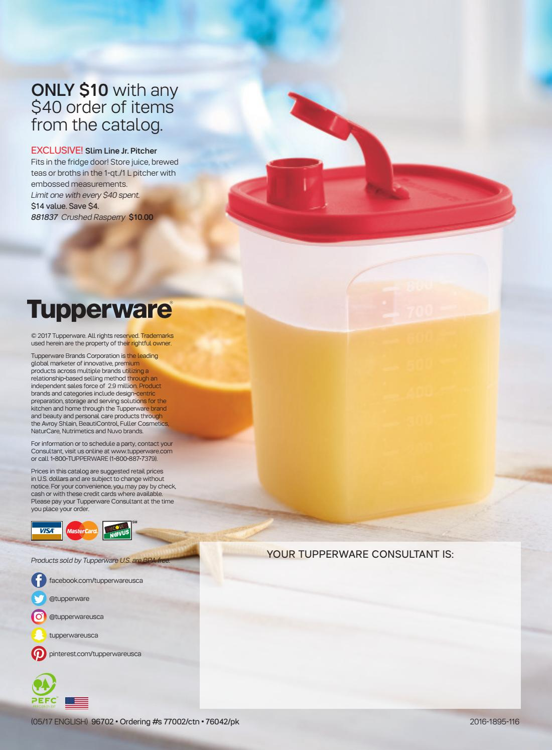 Usa Summer 2017 Tupperware Catalog By Mytwpage Issuu