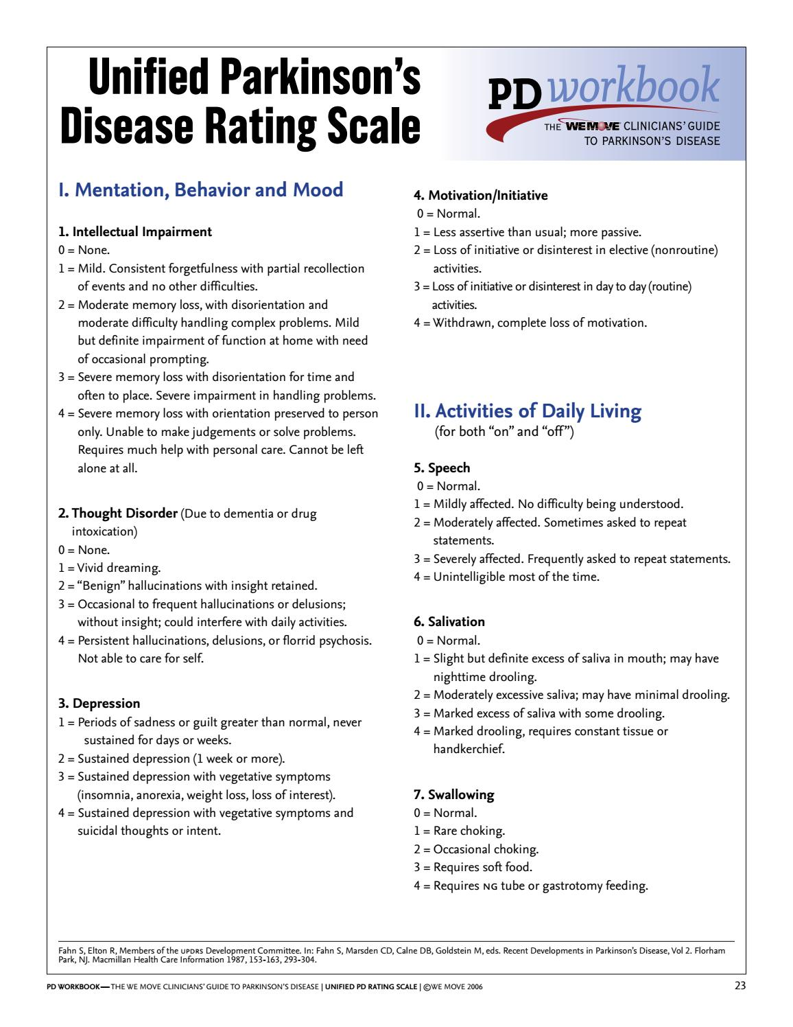 is weight loss a symptom of parkinson disease