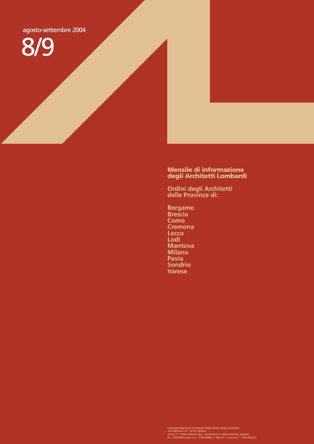 Parcella Architetto Per Ristrutturazione al 8/9, 2004 by consulta al - issuu