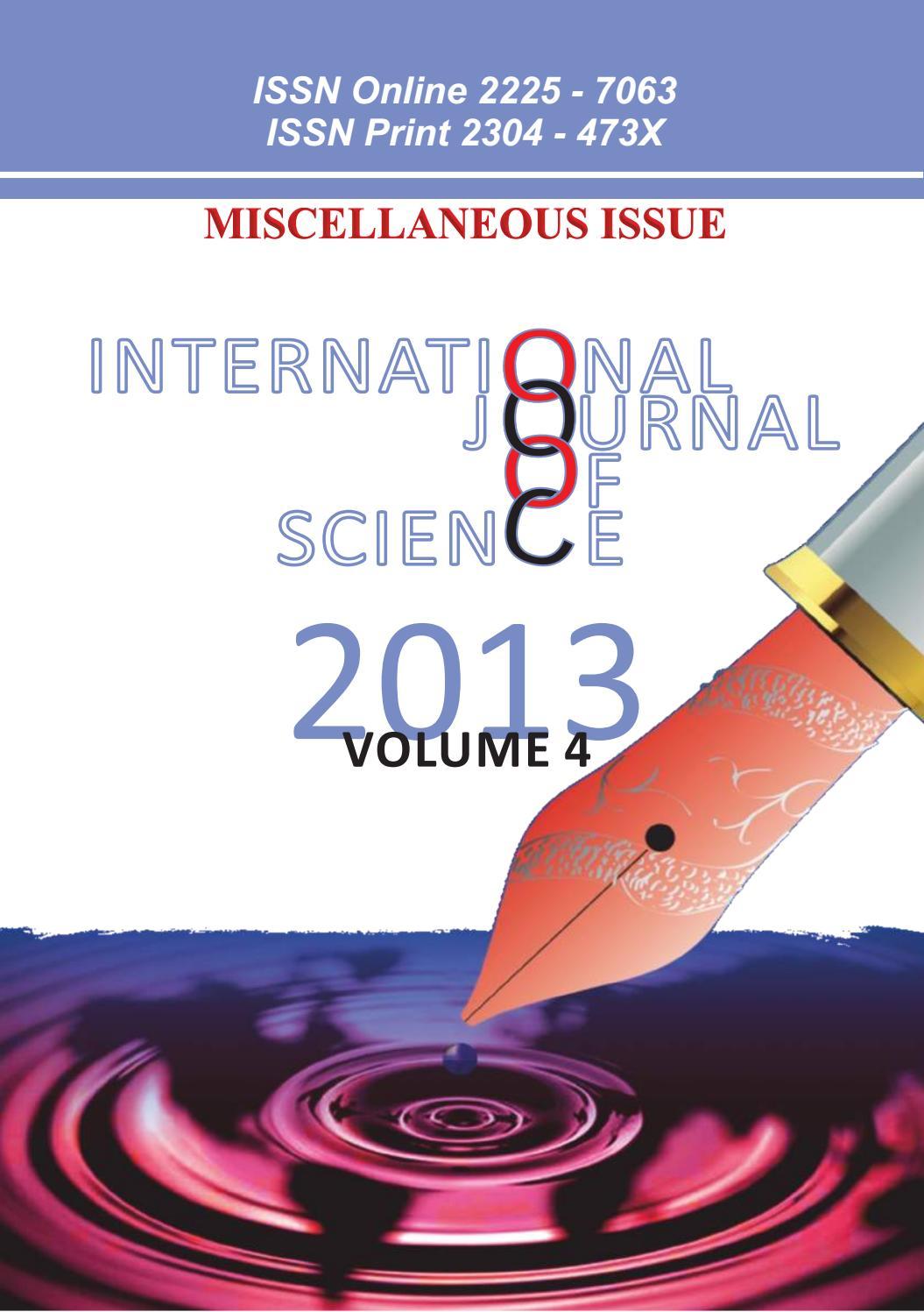 Ijosc Volume 4 By Science Journal Issuu
