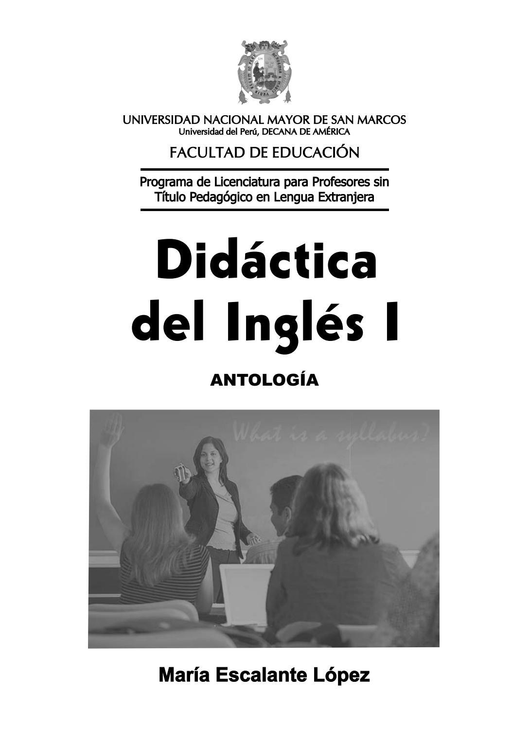 Didáctica del inglés I by UNMSM-PROLEX - issuu