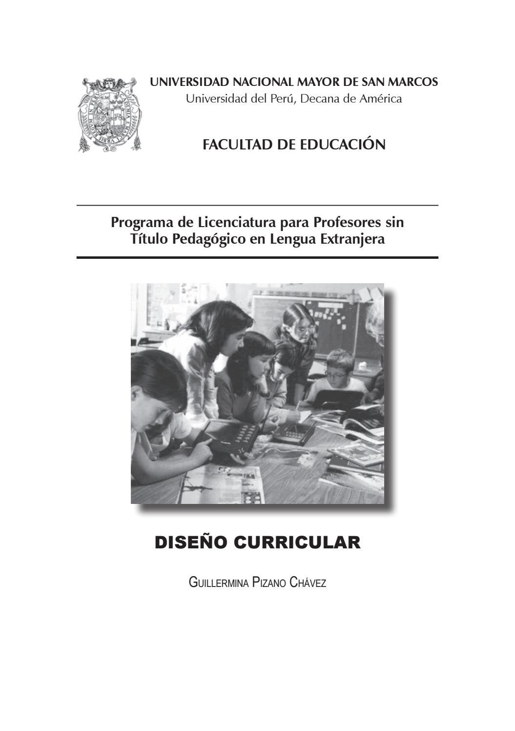 Diseño curricular by UNMSM-PROLEX - issuu