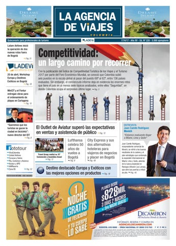 1d58290903 La Agencia de Viajes Colombia N° 220 by Ladevi Media   Solutions - issuu