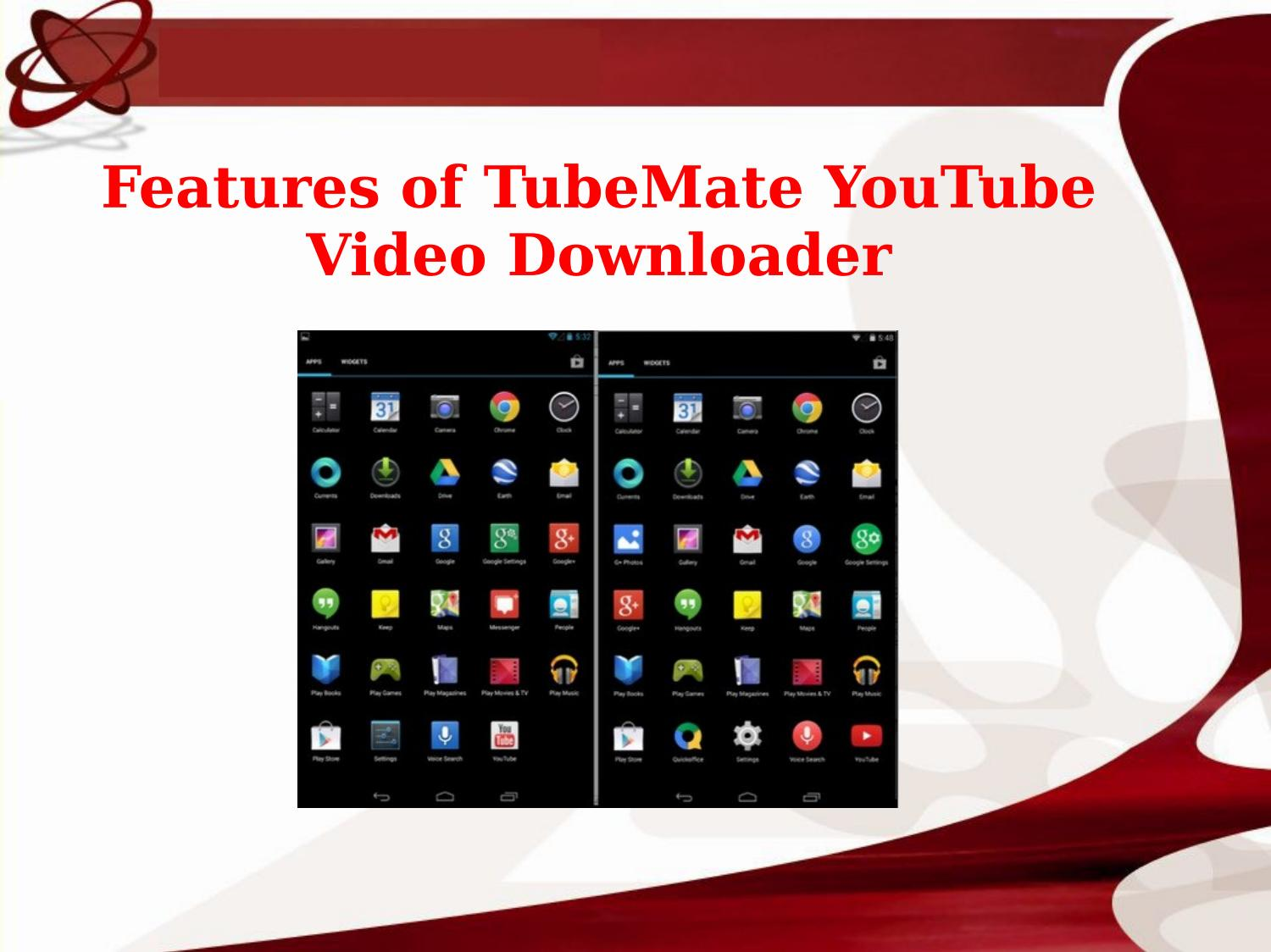 Features of tubemate youtube video downloader by sadamsdarry - issuu