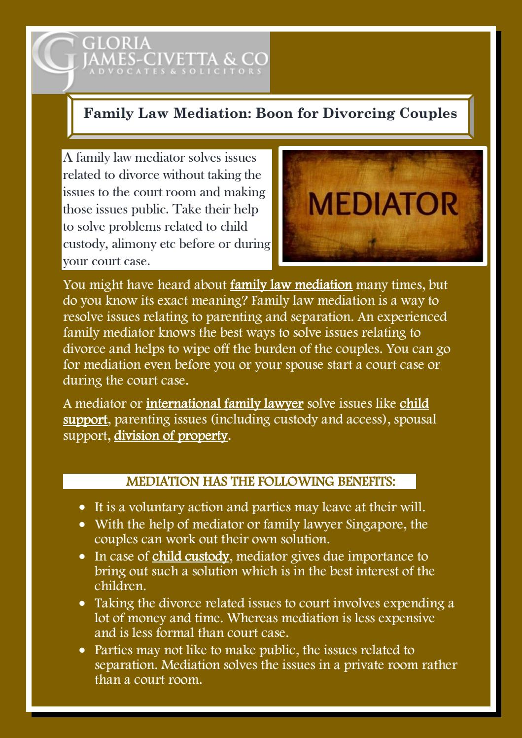 Family Law Mediation Boon For Divorcing Couples By Jamson Lim Issuu