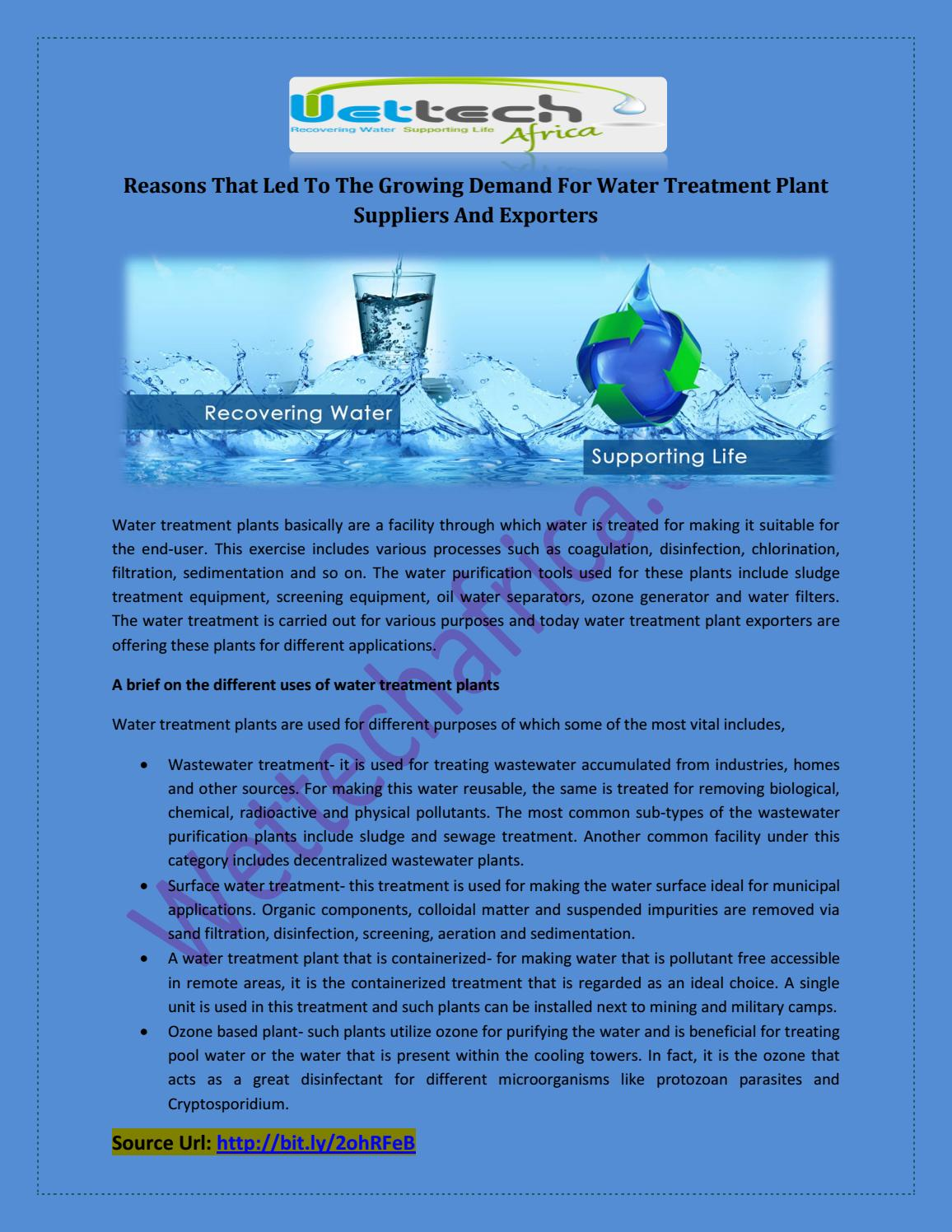 demand and treatment of water