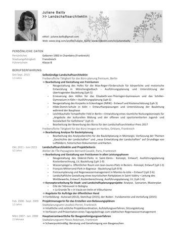 Lebenslauf 2017 by juliane bailly - issuu